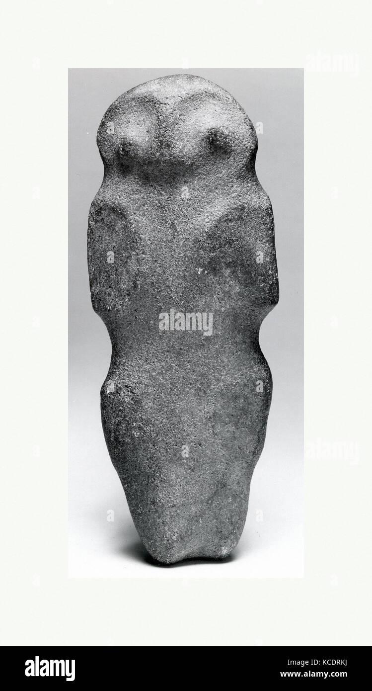 Axe, Zoomorphic Form, 10th–15th century, Dominican Republic, Caribbean, Taino, Stone, H x W: 9 1/8 x 3 1/2in. (23.2 - Stock Image