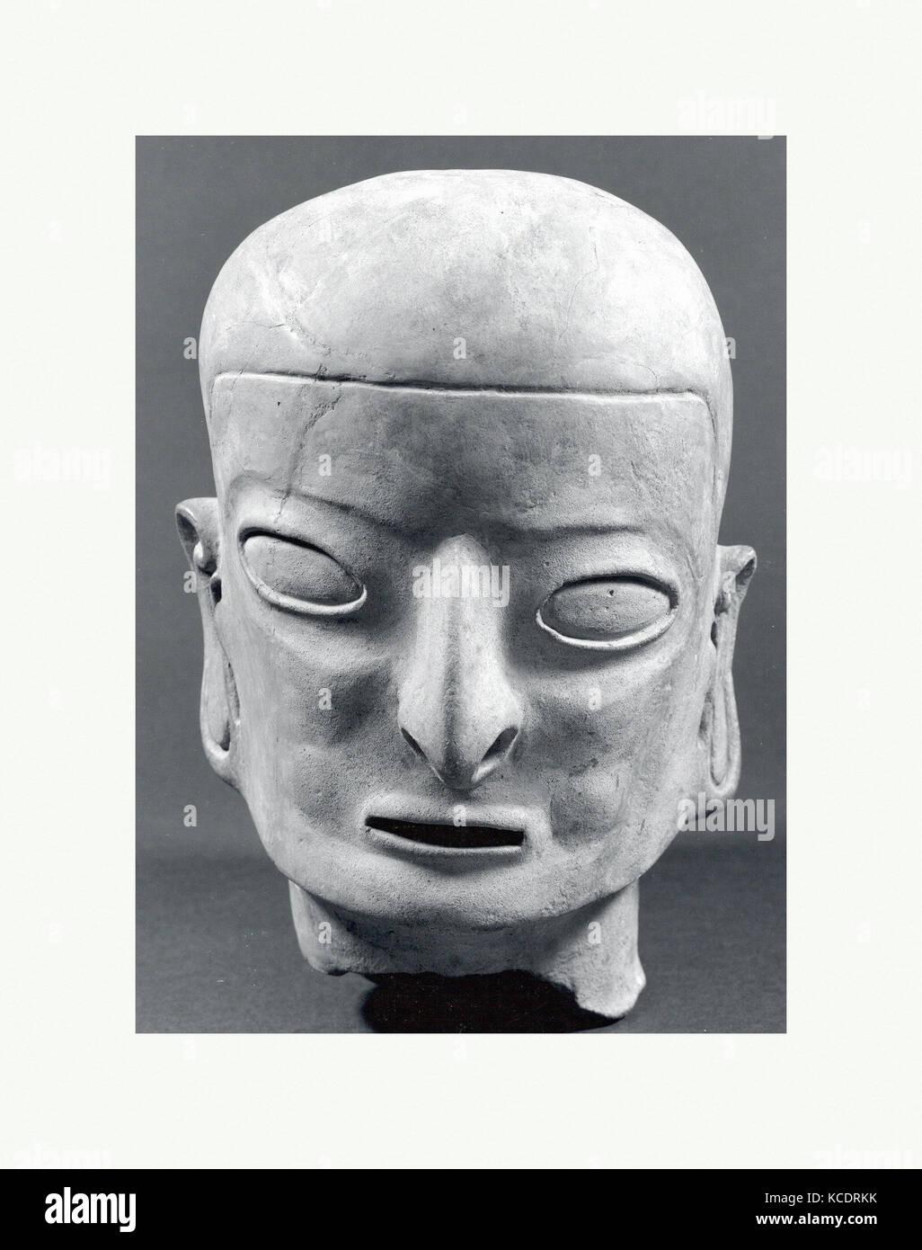 Head, from a Figure, 1st–5th century (?), Colombia or Ecuador, Tolita-Tumaco, Ceramic, H x W: 12 1/2 x 8in. (31.8 - Stock Image