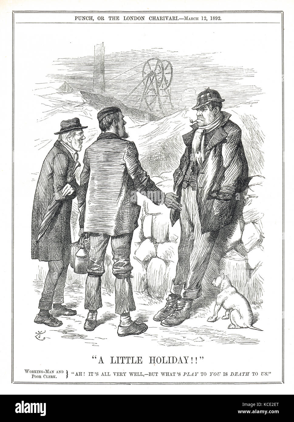 Miners dispute against pay cuts of 1892 - Stock Image