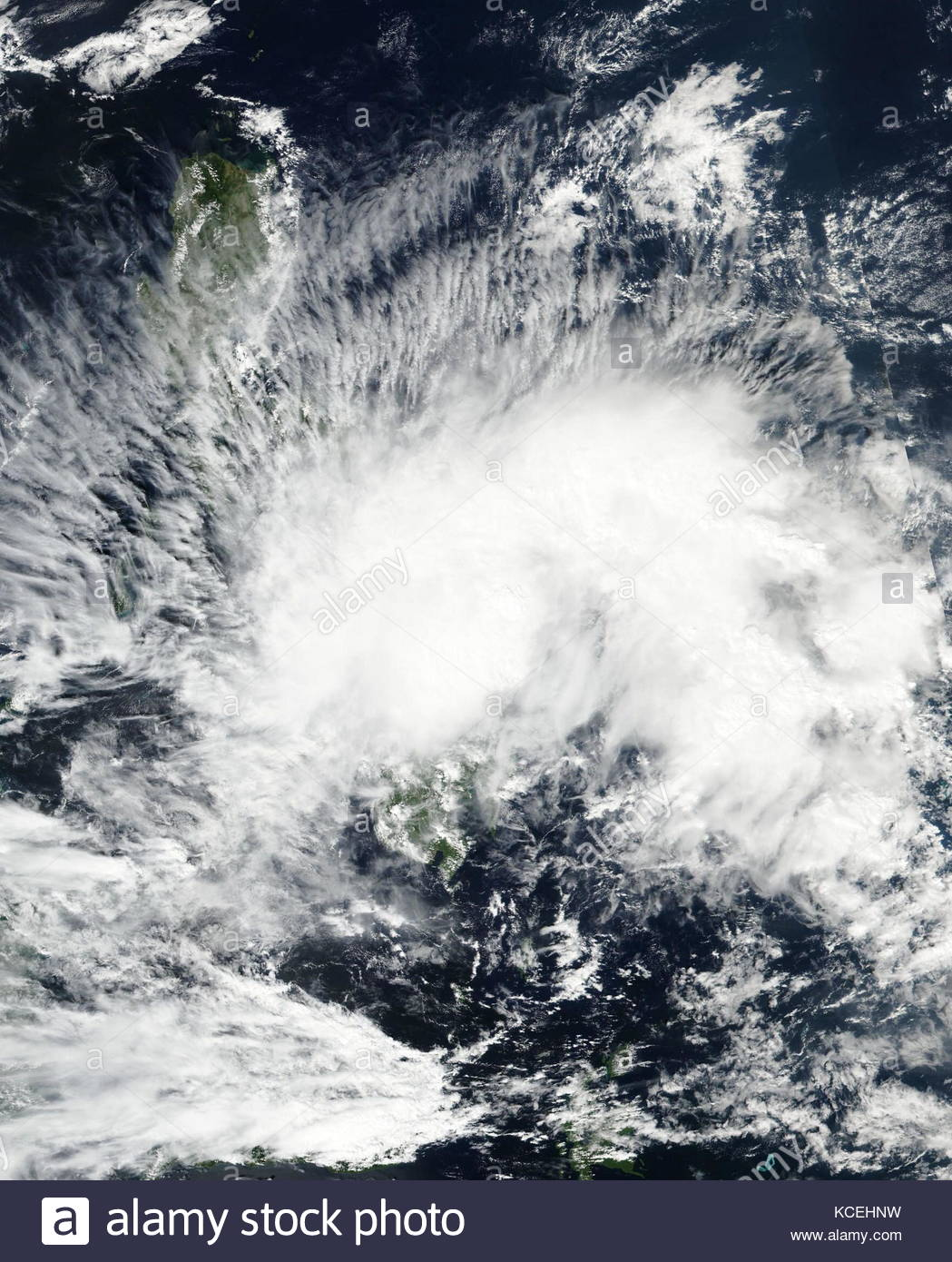 Tropical Depression 01W (Auring) east of Mindanao on January 8, 2017 - Stock Image
