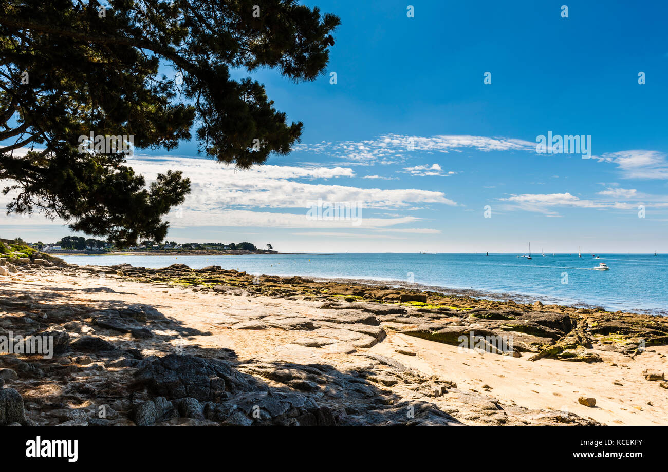 Bay and river at Benodet, Brittany, France - Stock Image