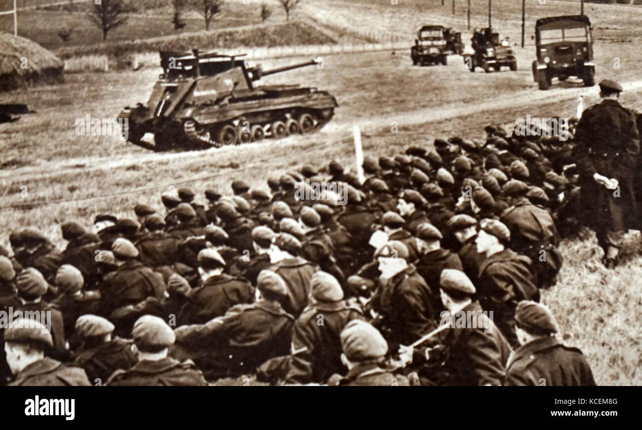 Photograph taken during the 'Valentine' Chassis. Pictured is the self-propelled, 17 pounder anti-tank gun - Stock Image