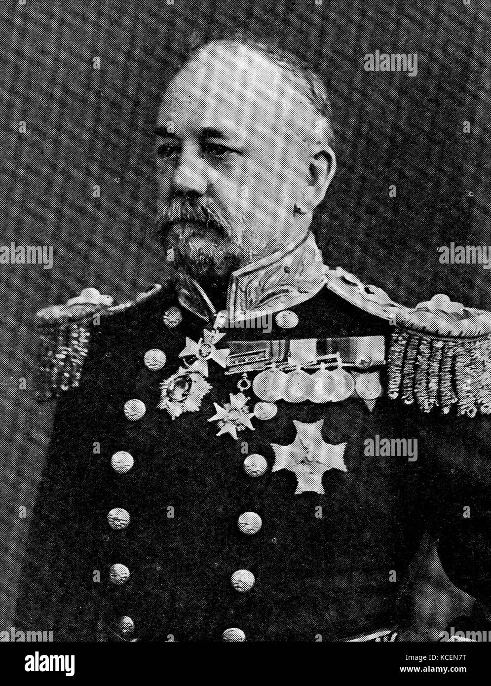 Photograph of Admiral Sir Percy Moreton Scott (1853-1924) a British Royal Navy officer and pioneer in modern naval - Stock Image