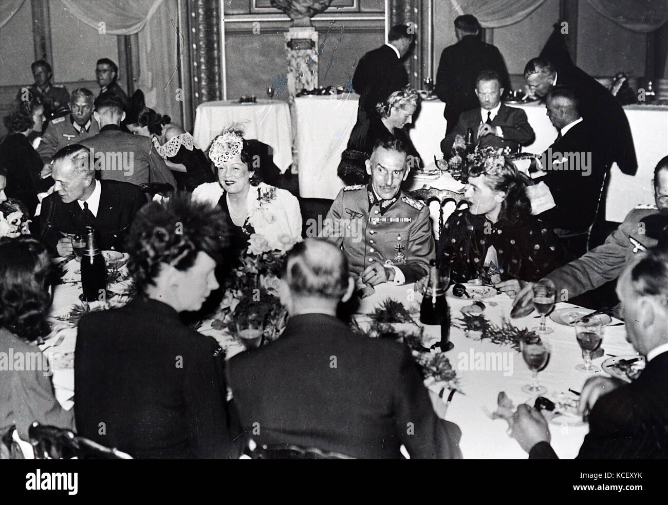Photograph of Carl-Heinrich von Stülpnagel having dinner at the Paris Opera house. Carl-Heinrich von Stülpnagel - Stock Image