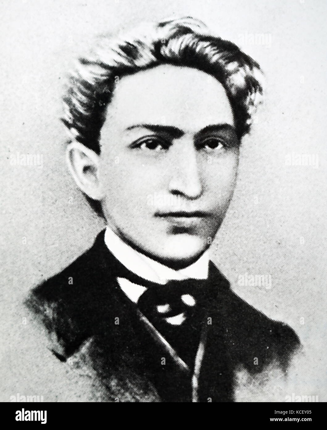 Portrait of Leo Frankel (1844-1896) a Communist revolutionary of Hungarian and Jewish origin. Dated 19th Century - Stock Image