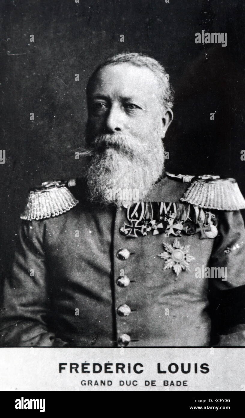 Photograph of Frederick 1st Grand Duke of Baden (1826-1907) a German prince and Grand Duke. Dated 20th Century - Stock Image