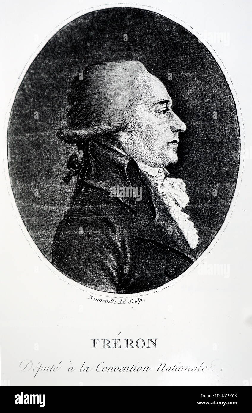 Portrait of Louis-Marie Stanislas Fréron (1754-1802) a French politician, journalist, representative to the - Stock Image