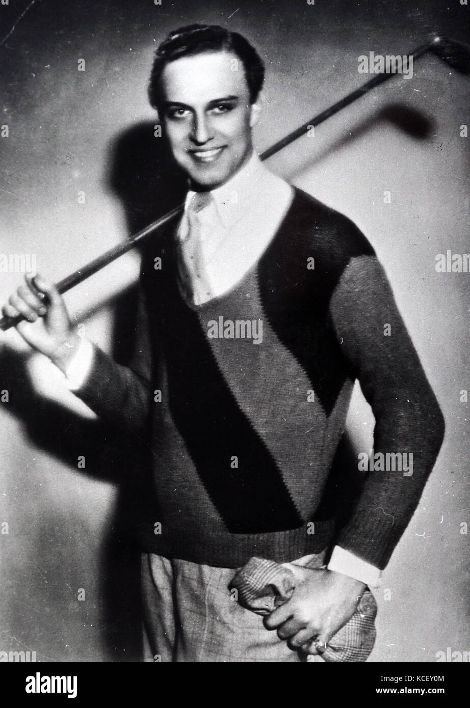 Photograph of Werner Fuetterer (1907-1991) a German film actor. Dated 20th Century - Stock Image