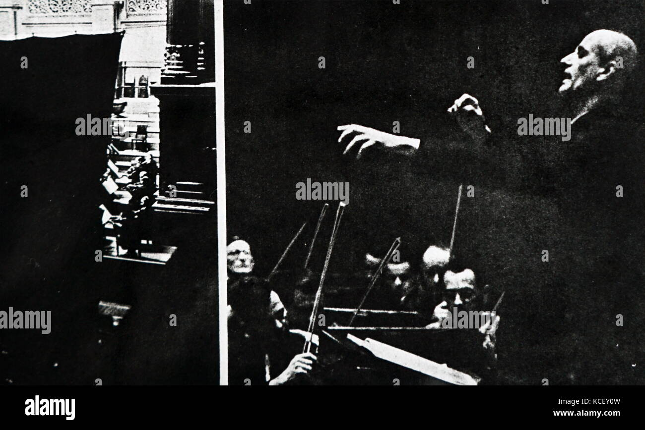 Photograph of Wilhelm Furtwängler (1886-1954) a German conductor and composer. Dated 20th Century - Stock Image
