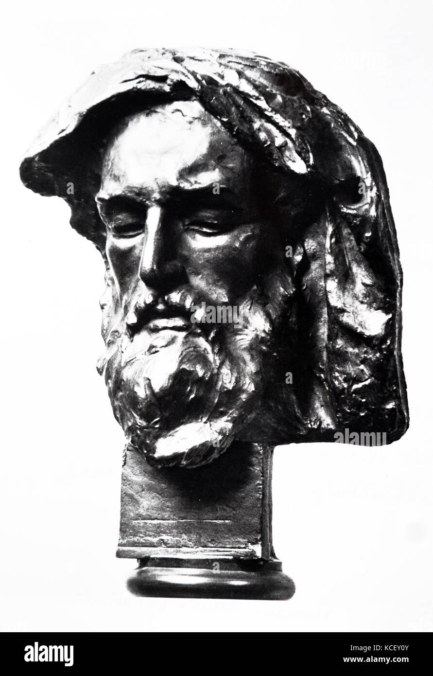 Bust of Chakhrukhadze, a Georgian poet of the late 12th/early 13th century traditionally credited to have written - Stock Image