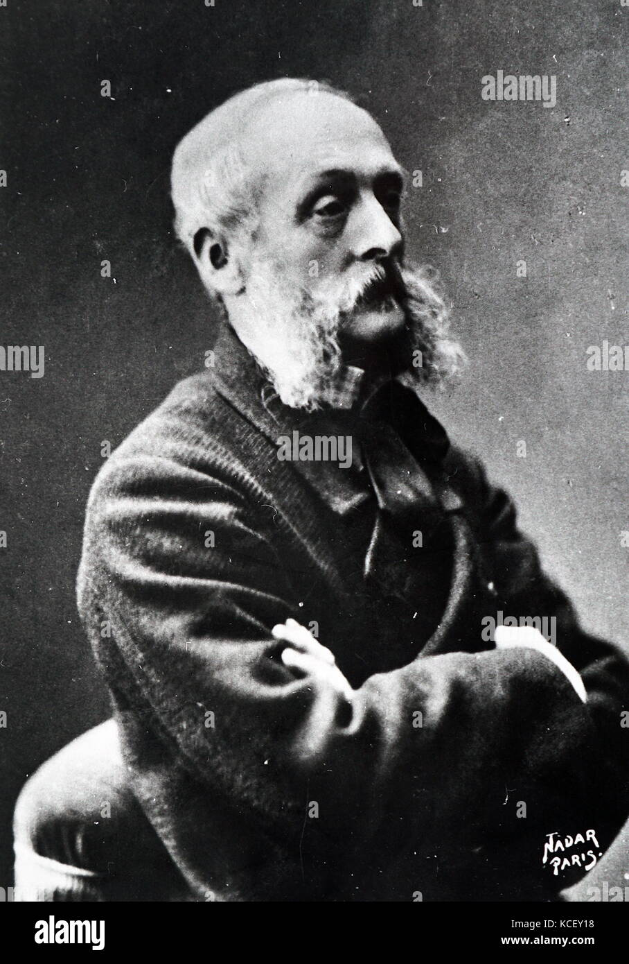 Photograph of Charles Joshua Chaplin (1825-1891) a French painter and printmaker. Dated 19th Century - Stock Image