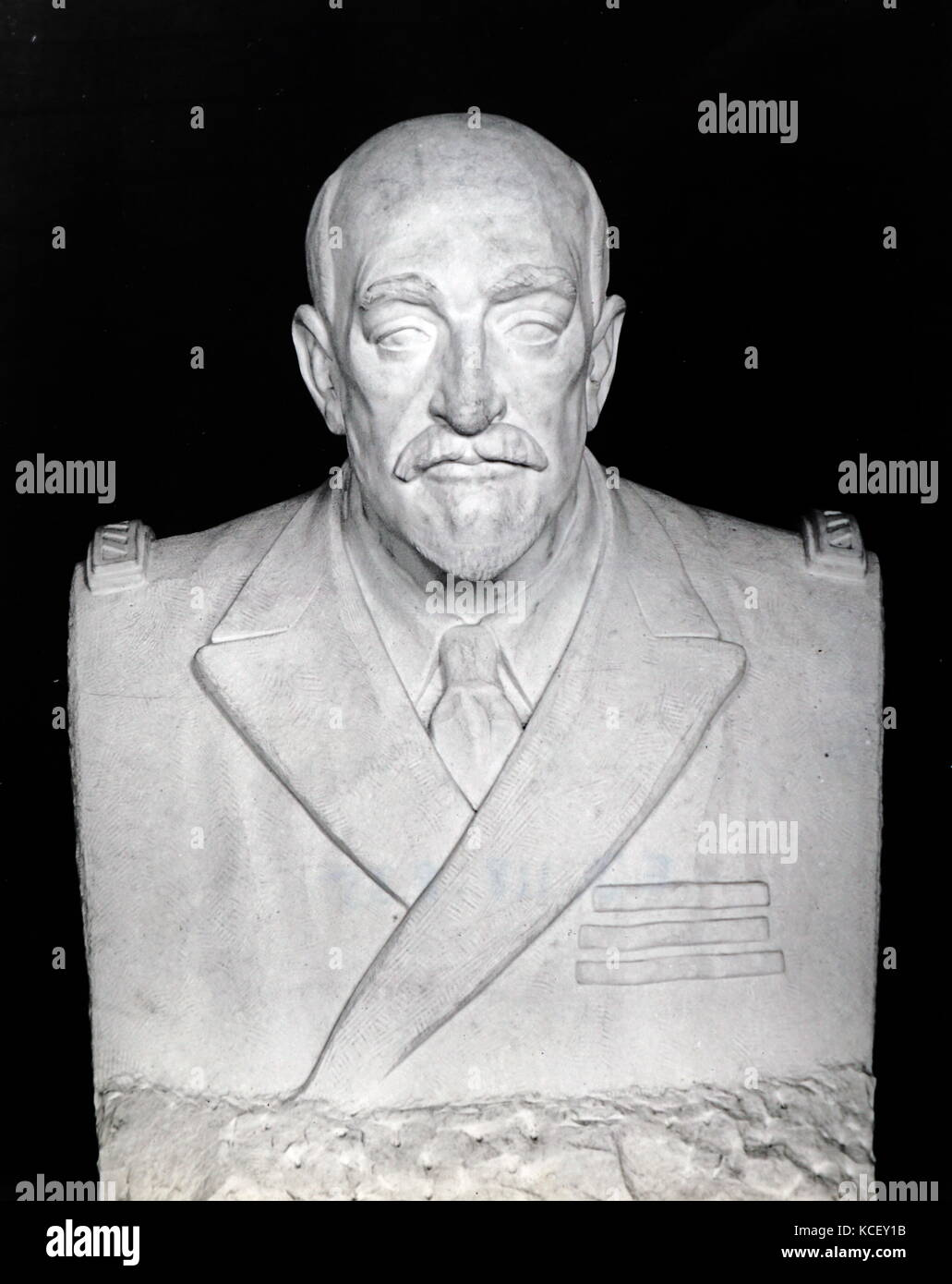 Bust of Jean-Martin Charcot (1825-1893) a French neurologist and professor of anatomical pathology. Dated 19th Century - Stock Image
