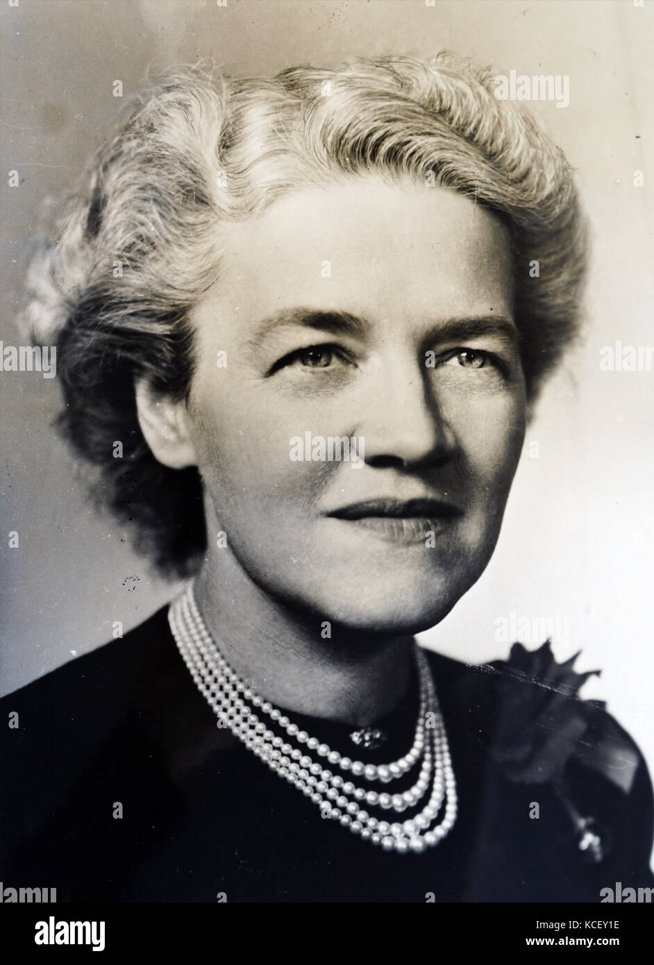 Photograph of Margaret Chase Smith (1897-1995) a former United States politician, member of the Republican Party - Stock Image