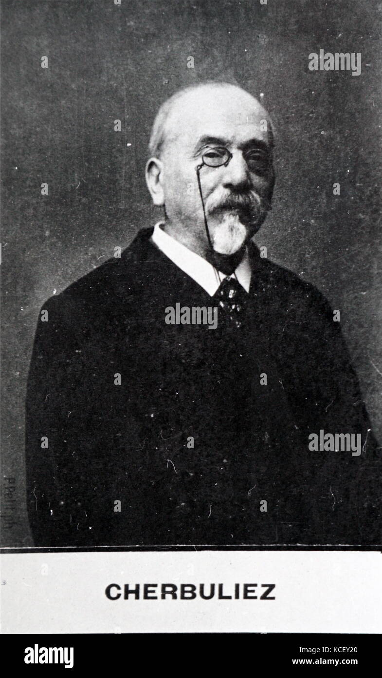 Photograph of Jules Chéret (1836-1932) a French painter and lithographer and master of Belle Époque poster - Stock Image