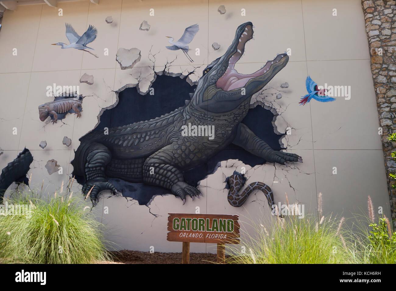 Gatorland entrance - Orlando, Florida USA - Stock Image