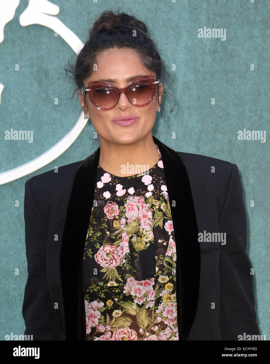 Sep 06, 2017 - Salma Hayek attending 'Mother!' UK Premiere, Odeon Leicester Square in London, England, UK - Stock Image