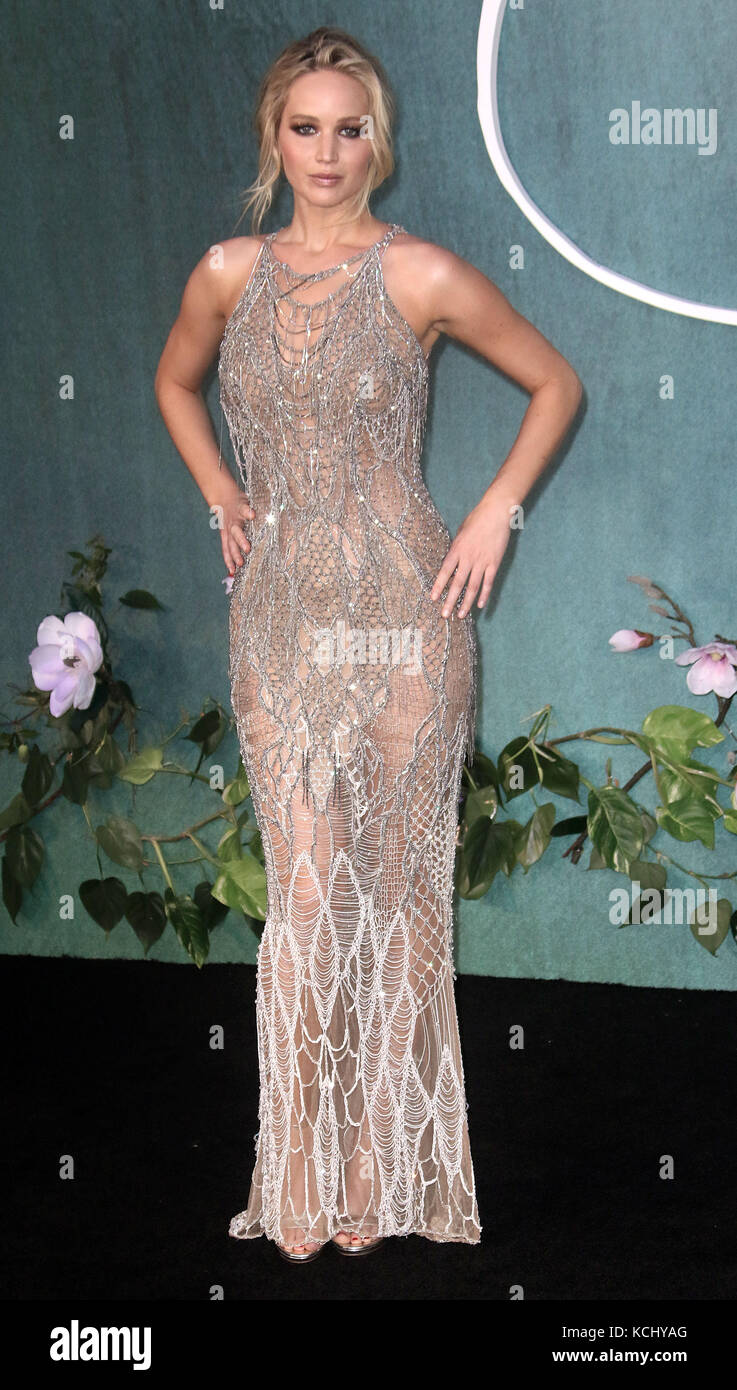 Sep 06, 2017 - Jennifer Lawrence attending 'Mother!' UK Premiere, Odeon Leicester Square in London, England, - Stock Image