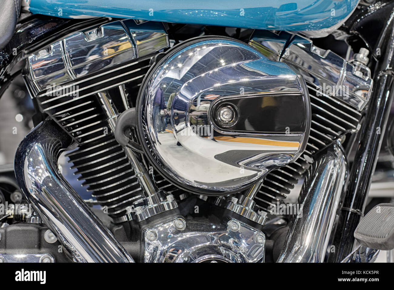 Twin Air Engine Oil Cooler : Air cooled engine stock photos