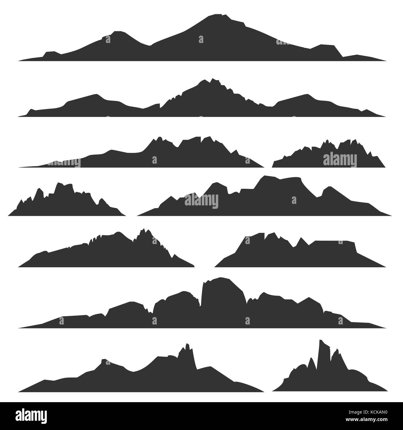 Amazing mountain silhouette vector free images