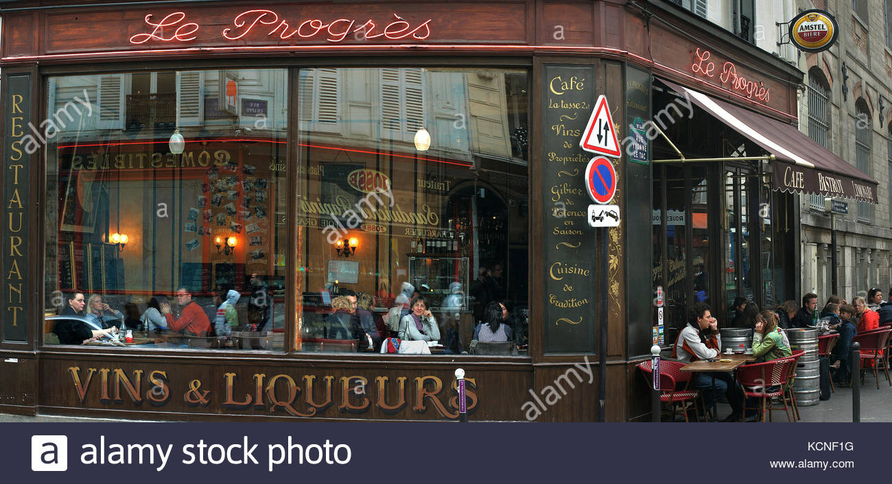Cafe parisien stock photos cafe parisien stock images for Restaurant miroir paris 18