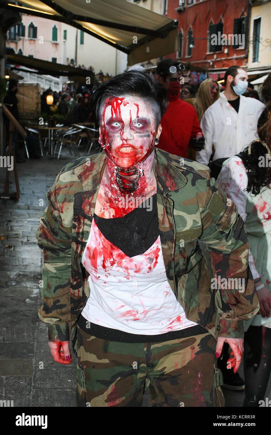 Venice, 21/02/2015. 2nd Zombie Walk in Venice. - Stock Image