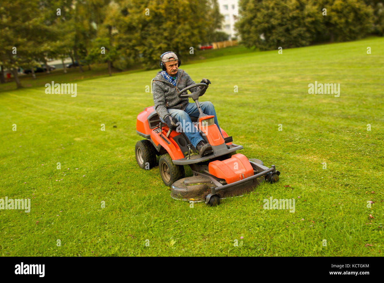 Man Riding Lawn Mower : Mow the lawn stock photos images alamy