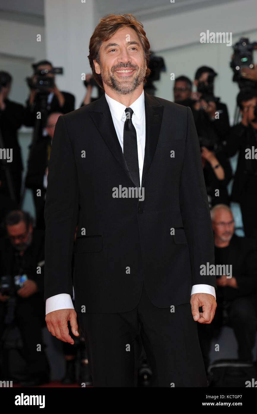 74th Venice Film Festival - 'Mother!' - Premiere  Featuring: Javier Bardem Where: Venice, Italy When: 05 Sep - Stock Image