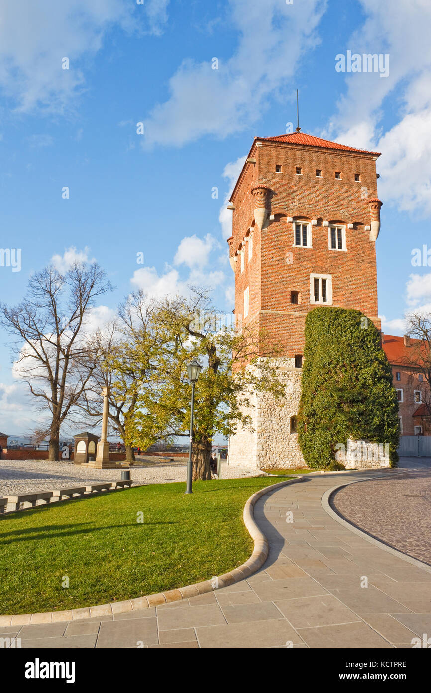 Thieves' Tower of the Wawel castle, Krakow, Poland - Stock Image