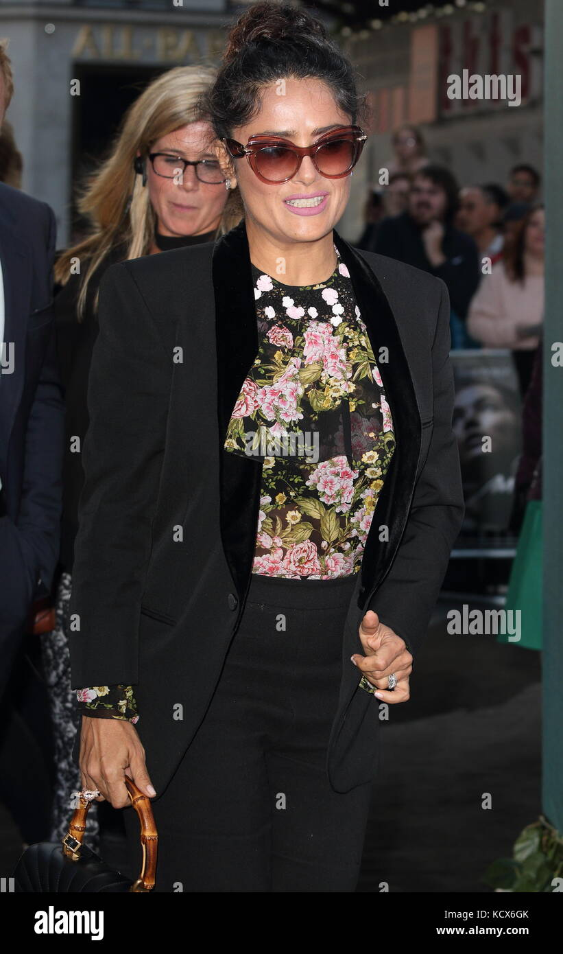 Mother! UK film premiere at the Odeon Leicester Square, London  Featuring: Salma Hayek Where: London, United Kingdom - Stock Image