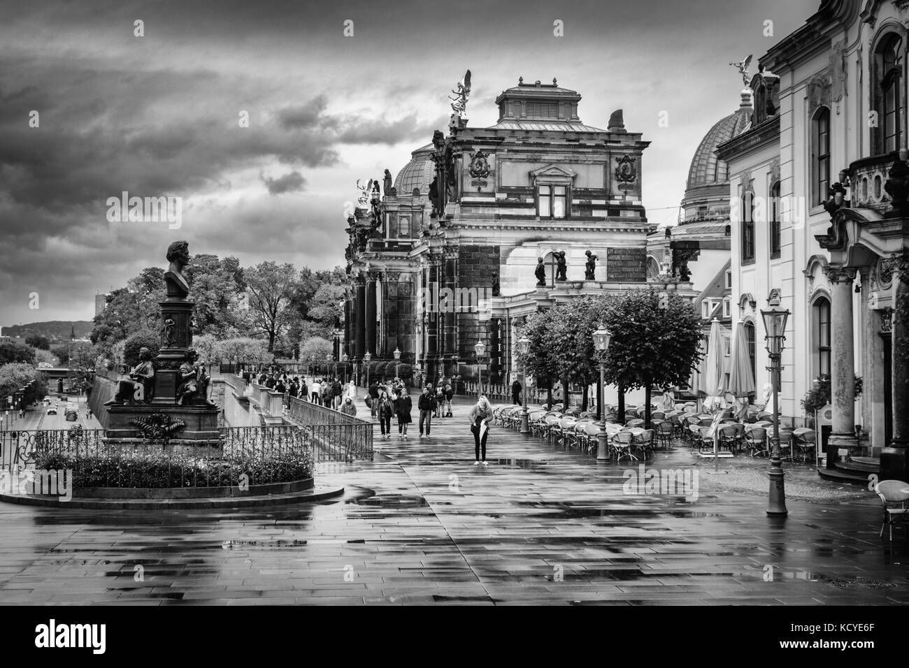 Hofkirche Black And White Stock Photos Images Alamy