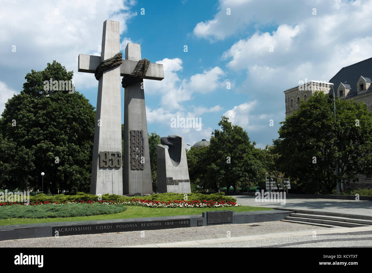 The Monument to the Victims of June 1956, Poznan, Poland. - Stock Image