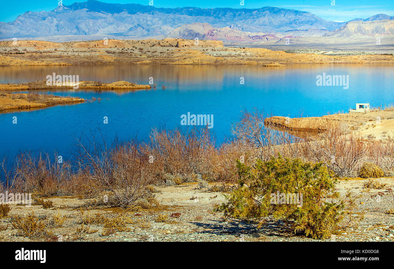 Lake Mead National Recreation Area in Arizona - Stock Image