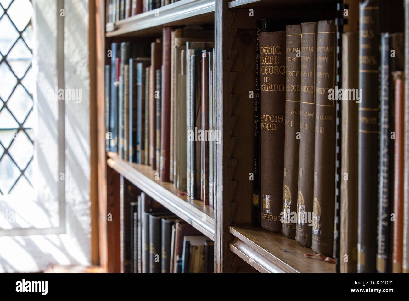 books in Wells cathedral library - Stock Image