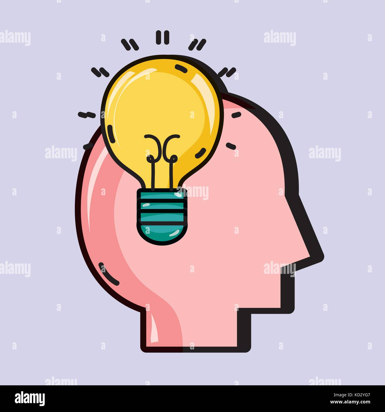 psychology treatment to analysis mental problem - Stock Image