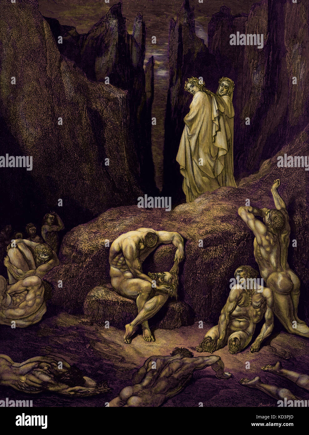hell in dante alighieris the divine comedy The divine comedy describes dante's imagined journey through hell and  purgatory to heaven the inferno, the most popular and widely studied section of  the.