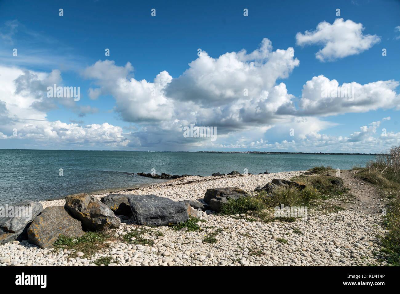 clouds, Ile de Re, Nouvelle-Aquitaine, french westcoast, france, - Stock Image