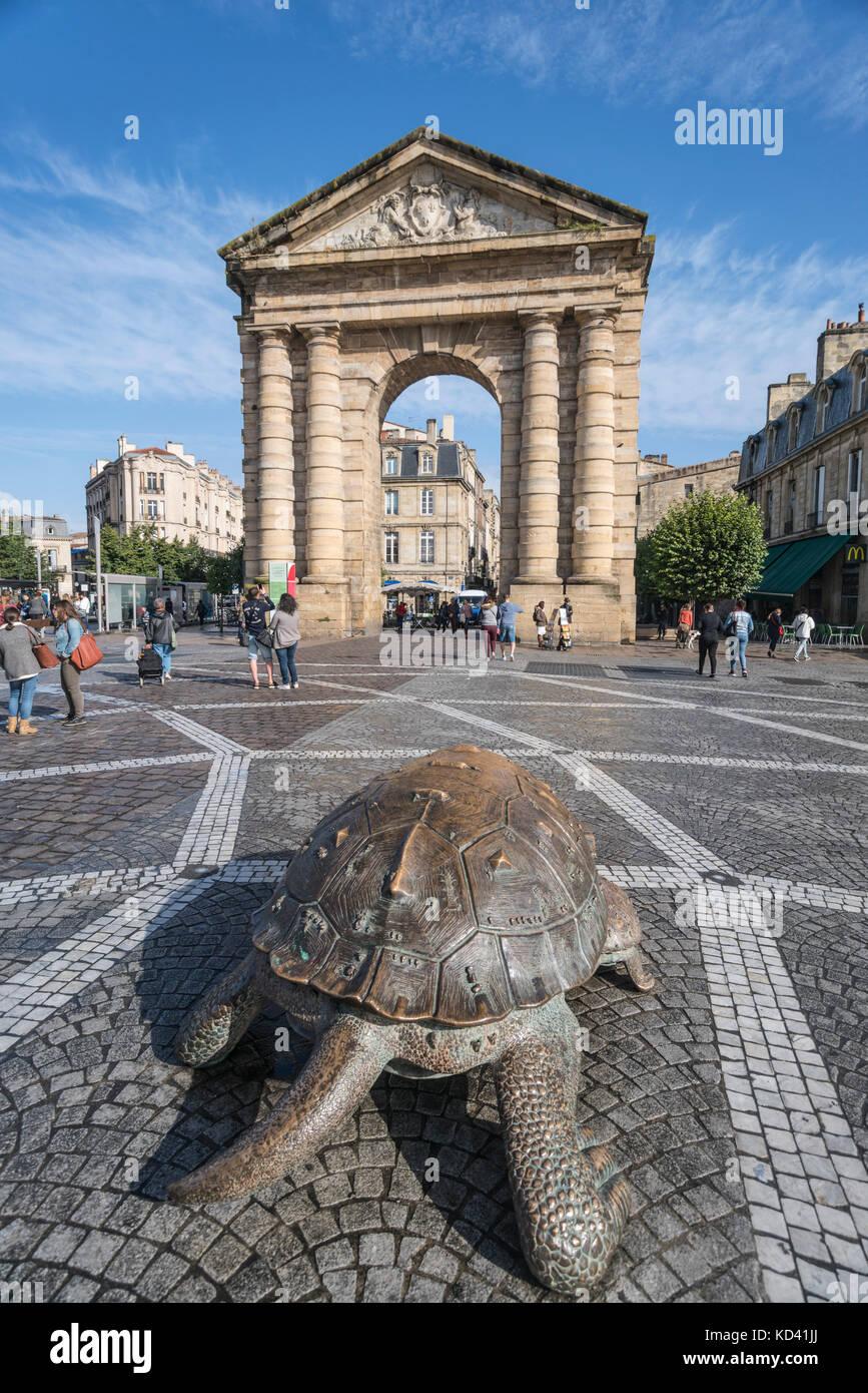 Porte d ' Aquitaine, Place De La Victoire, Bordeaux, Aquitanien, Frankreich - Stock Image