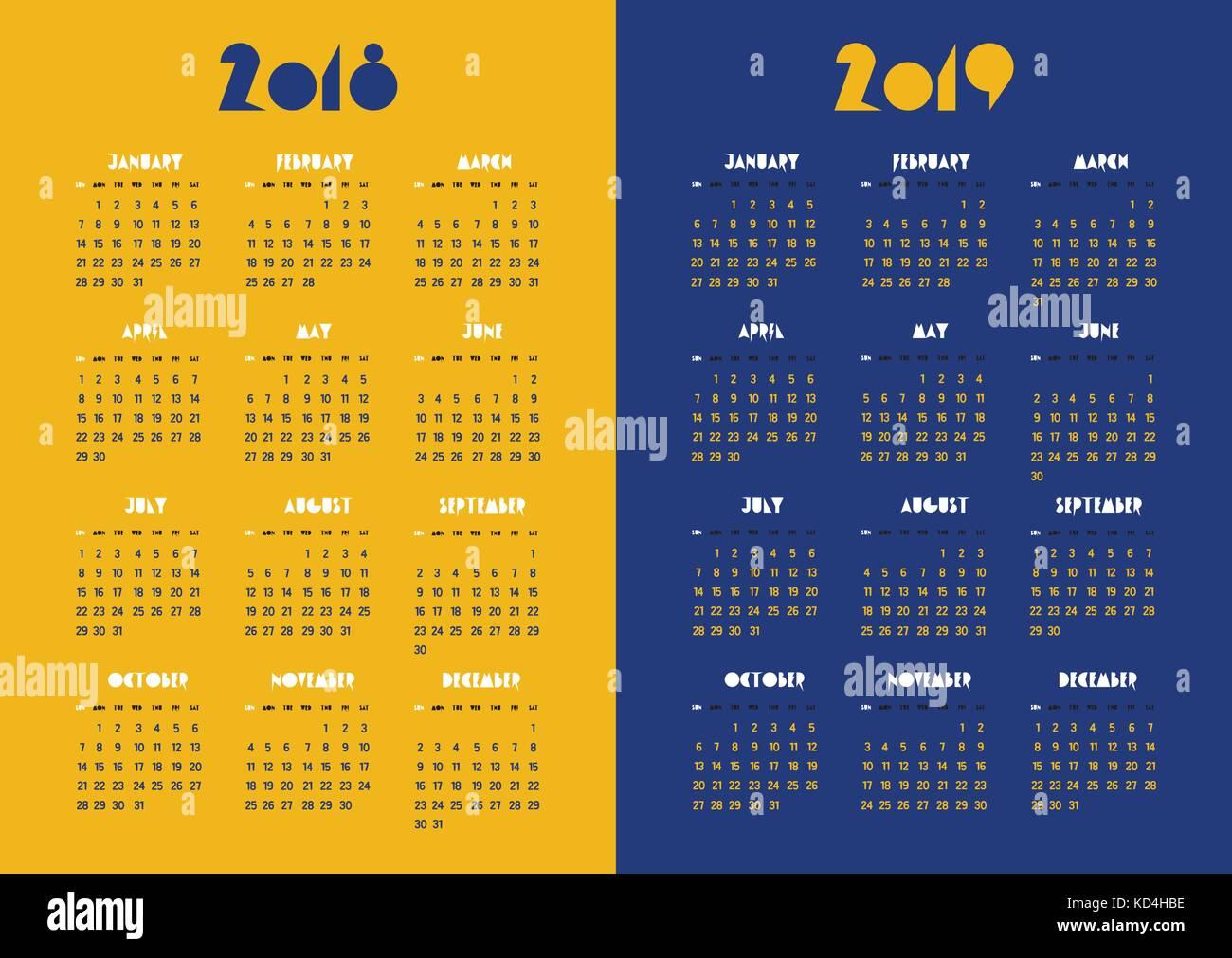 Year Calendar Vector : Year vector vectors stock photos