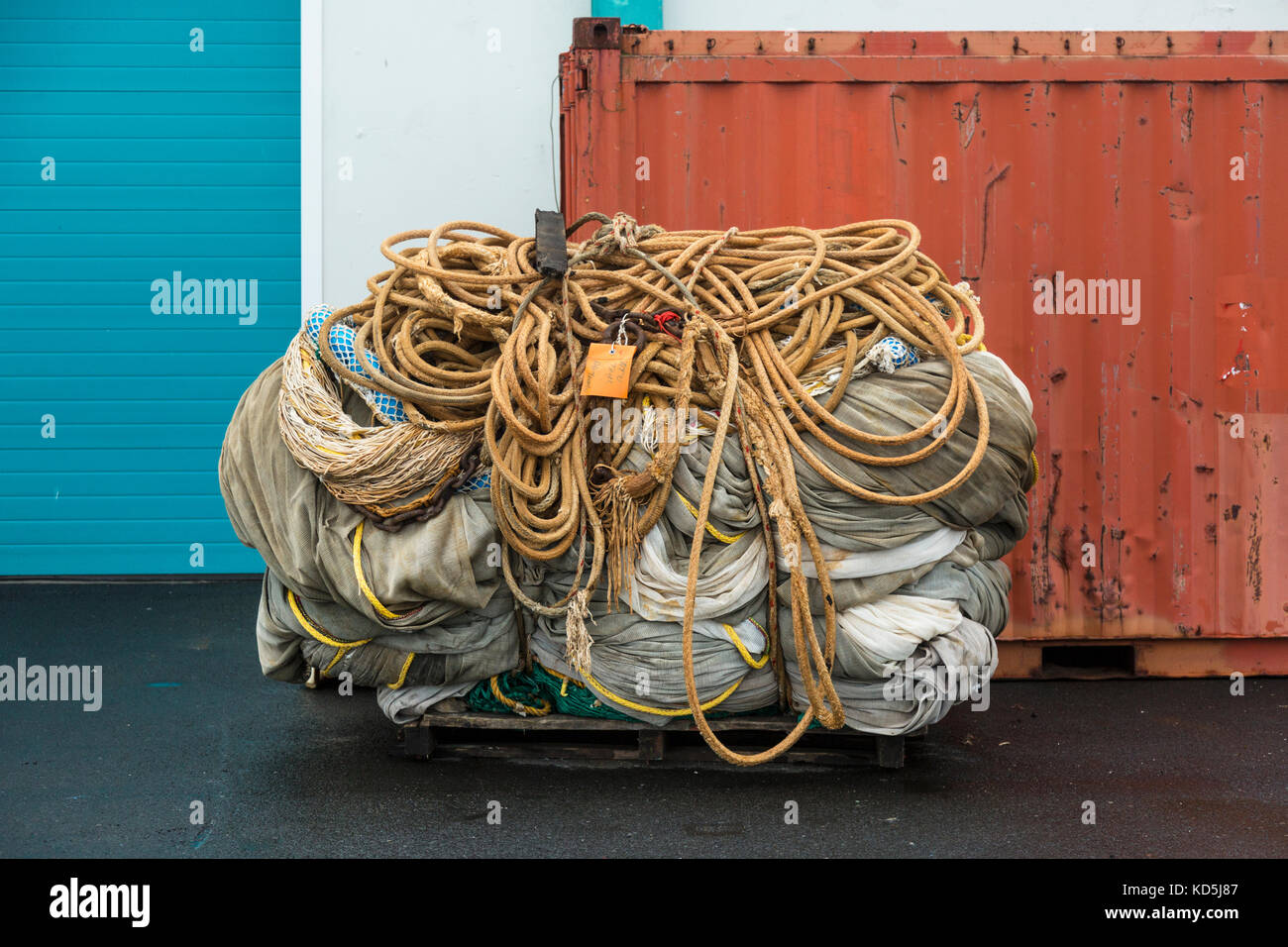 Trawler Nets And Ropes Stock Photos Amp Trawler Nets And