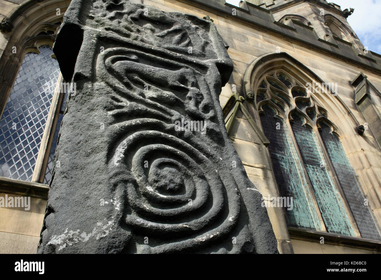 Anglo saxon stone carving stock photos