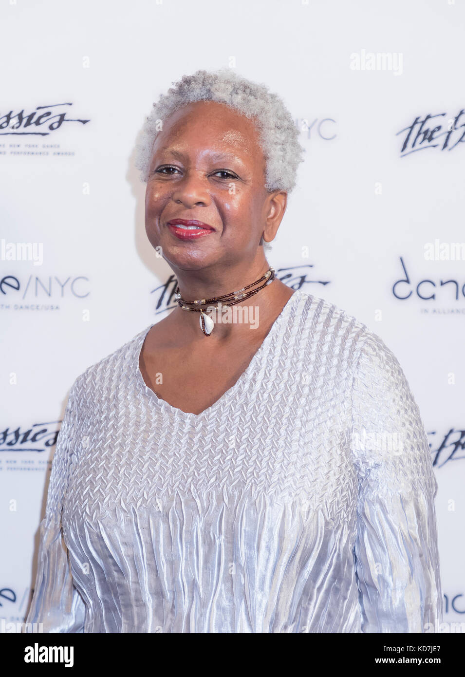 New York, USA. 09th Oct, 2017. 2017 Bessie Award nominee Eva Yaa Asantewaa attends The 33rd Annual NY Dance and - Stock Image