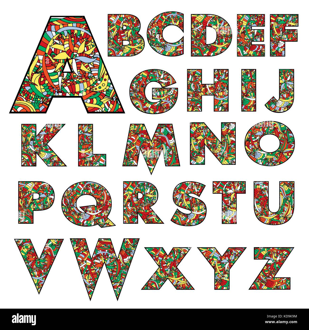 hand drawn floral alphabet design stock photos  u0026 hand drawn floral alphabet design stock images