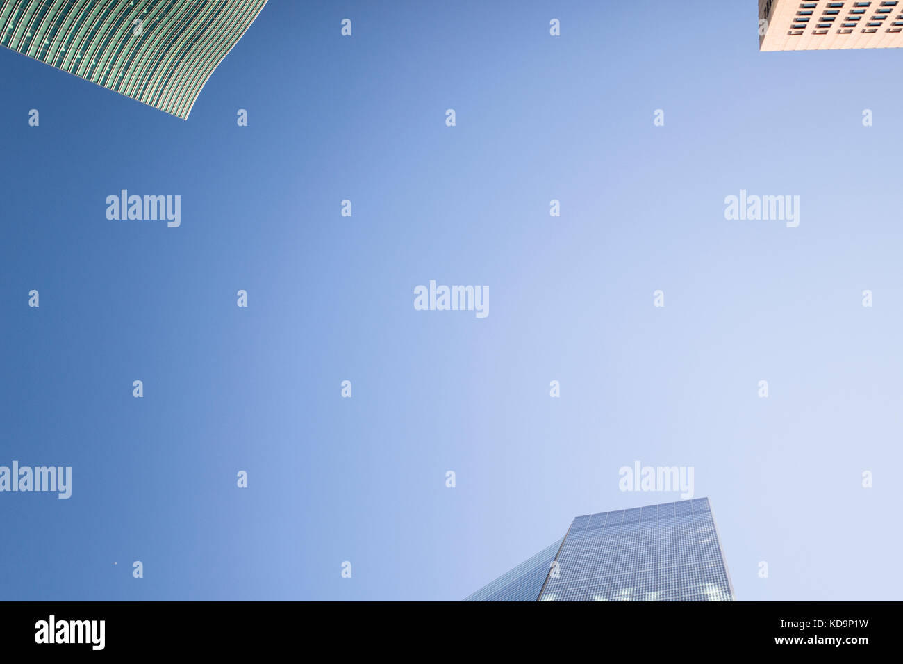 Buildings in Tokyo from bottom to top in Ginza district. Japan. - Stock Image