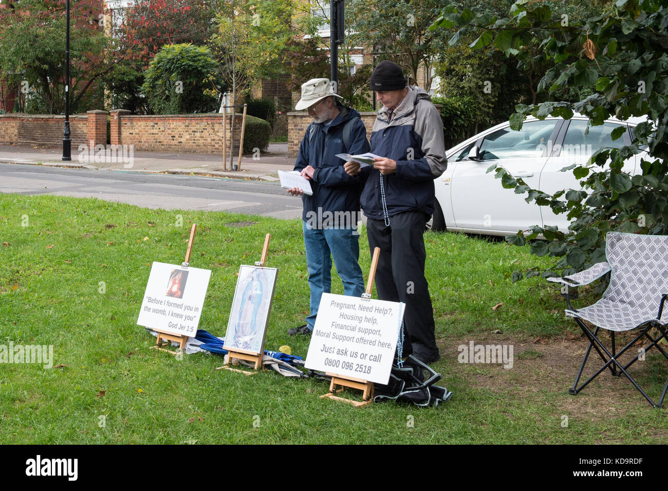 London, United Kingdom. 11 October 2017. Councillors in Ealing have backed calls to stop anti-abortion protestters - Stock Image
