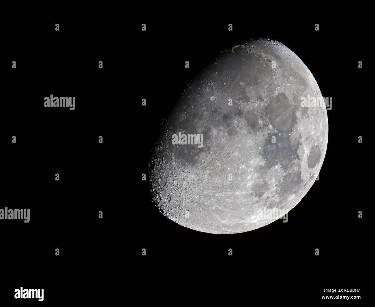 Waxing Gibbous Moon - Stock Image