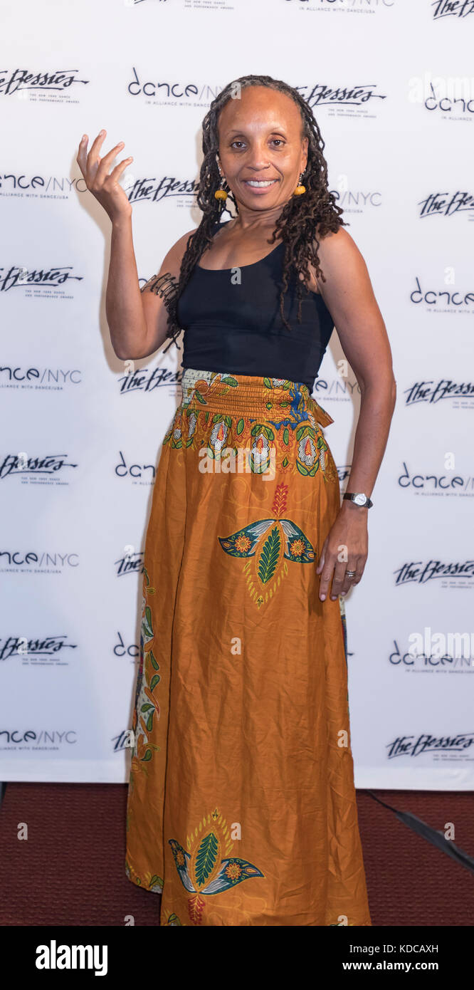 New York, NY, USA - October 9, 2017: Bessie Award Nominee Charrmain Warren attends The 33rd Annual NY Dance and - Stock Image