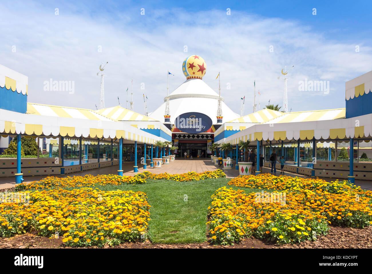 Entrance to Carnival City Casino & Entertainment World, Brakpan, East Rand, Greater Johannesberg, Gauteng Province, - Stock Image