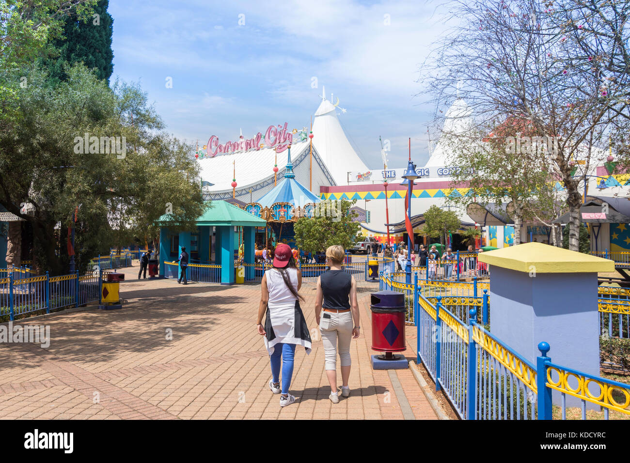 Fairground at Carnival City Casino & Entertainment World, Brakpan, East Rand, Greater Johannesberg, Gauteng, - Stock Image