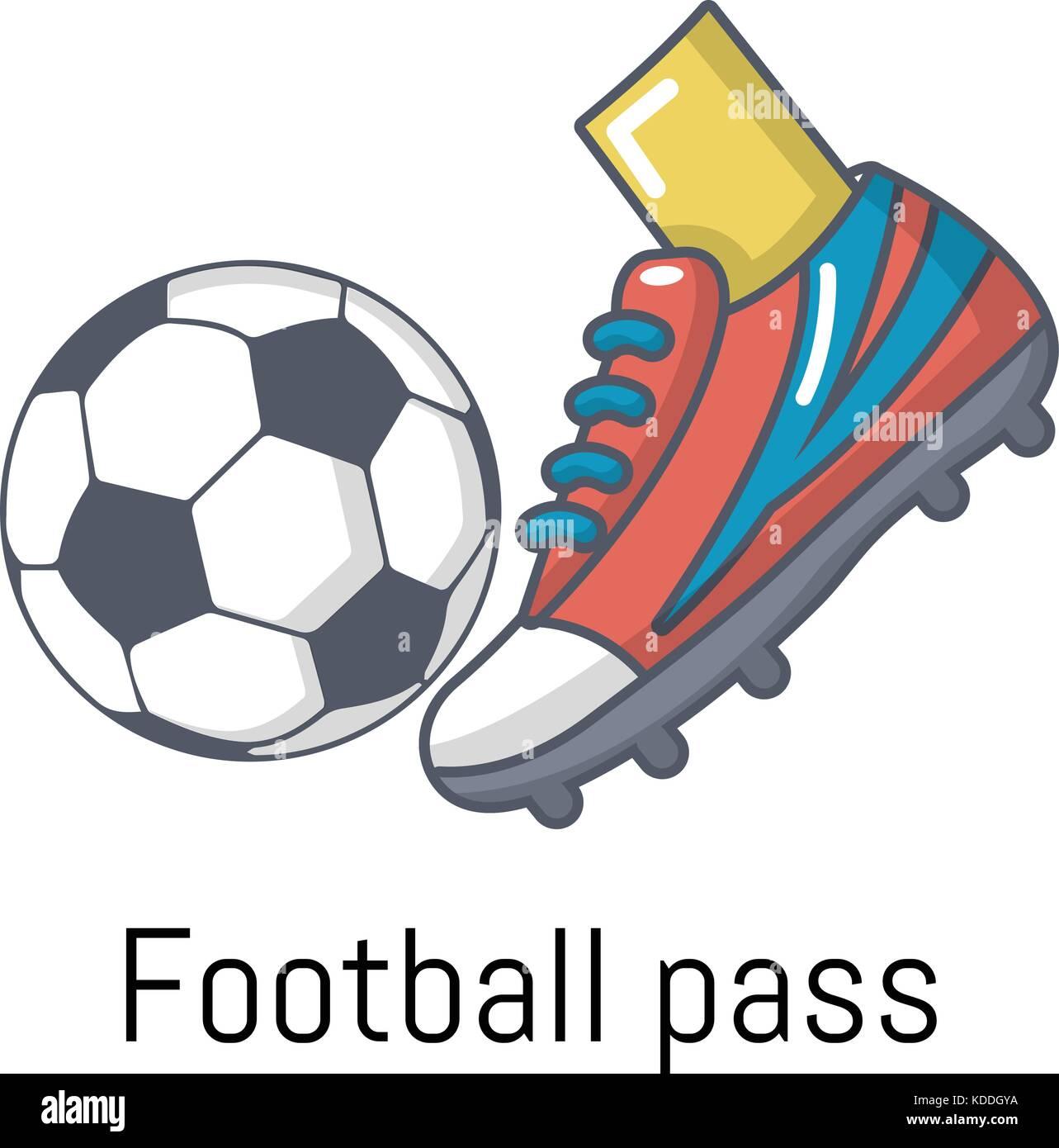cartoon illustration american football pass stock photos