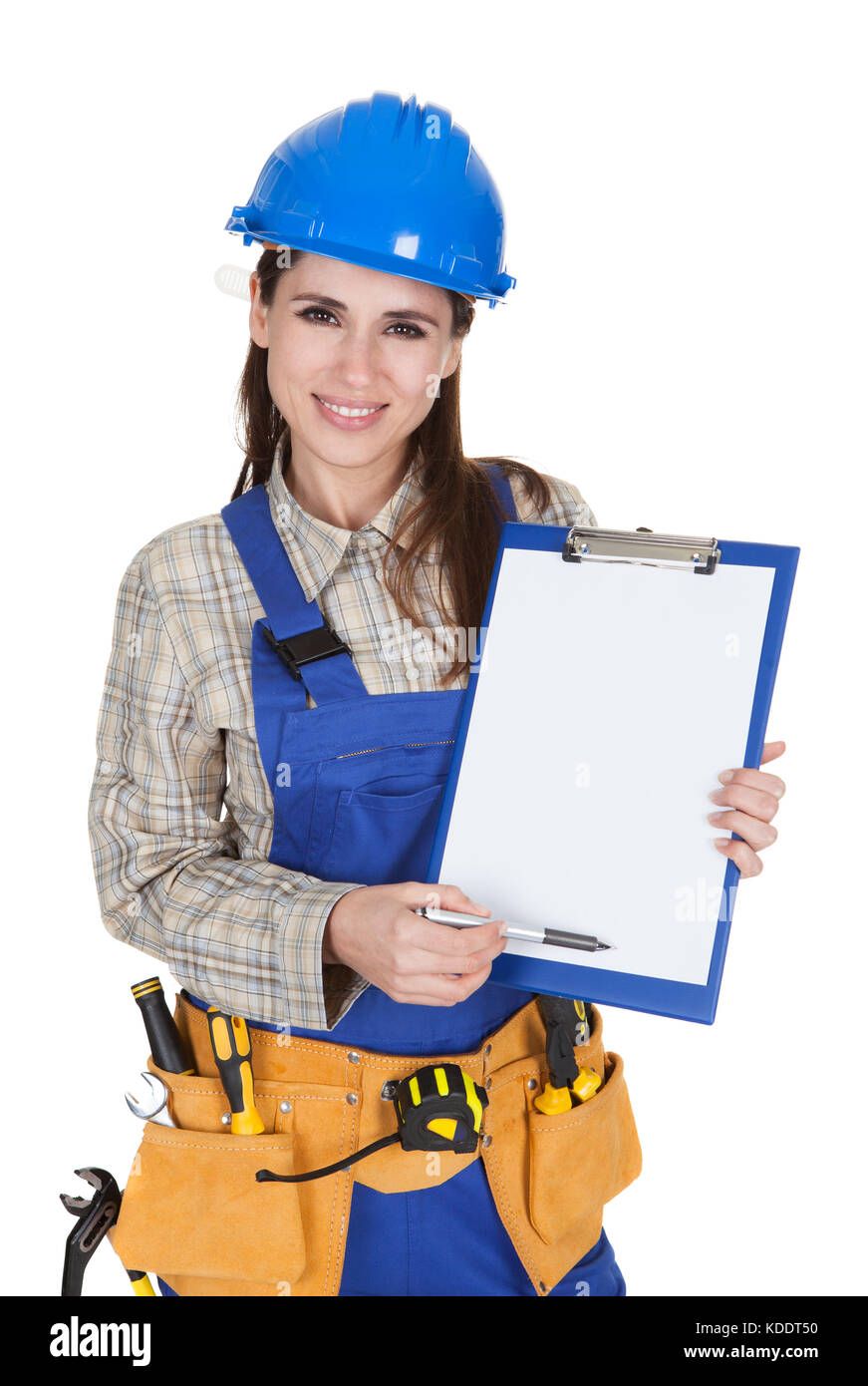 female-worker-showing-blank-clipboard-on-white-background-KDDT50.jpg